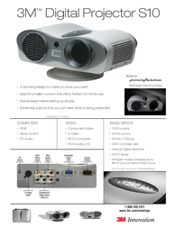 3M Multimedia projector S10 S10 Leaflet