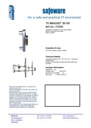 Safeware 70500 Leaflet