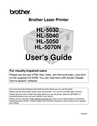 Brother HL-5040 Owner's Manual