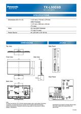 Panasonic TX-L50E6B Leaflet