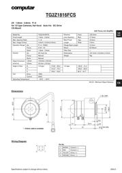 Computar TG2Z1816FCS Leaflet