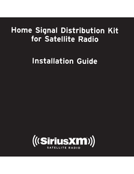 SiriusXM SXHA1 Owner's Manual