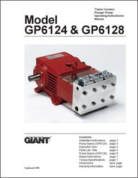 Giant Triplex Ceramic Plunger Pump GP6124 & GP6128 User Manual