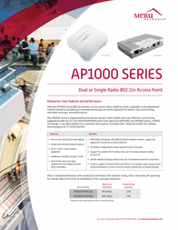 Meru AP1010I Leaflet
