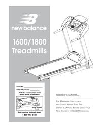 New Balance 1800 User Manual
