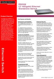 Edge-Core Layer 2/4 10 Gigabit Ethernet standalone switch ES5508 Leaflet