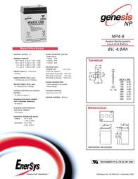 Enersys NP4-6, 6V NP4-6 Leaflet