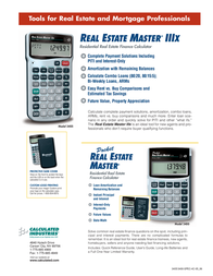 Calculated Industries Real Estate Master 3400 Leaflet