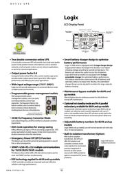 NEXT UPS Systems Logix 10000 77105 Leaflet