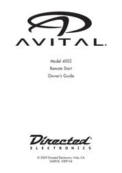 Avital 4003 Owner's Manual