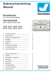 Viessmann 5572 Chain Saw Sound Module 5572 Data Sheet