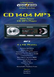 Dayton CD 1404 MP3. CD MP3 Player / RDS Tuner CD1404MP3 Leaflet