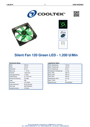 Cooltek CT120LG Leaflet