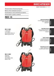 Birchmeier REC 15 ABZ 11925001 User Manual