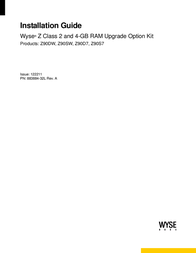 Wyse TV Mount Z90D7 Manual De Usuario