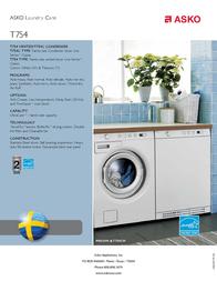 Asko T754 User Manual