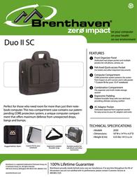 Brenthaven Duo II Laptop Shoulder 2030 Leaflet