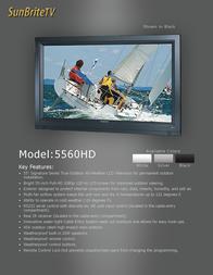 SunBriteTV SB-5560HD SB-5560HD-SL Leaflet