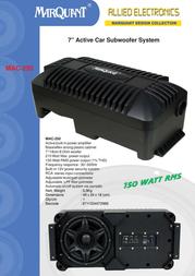 Marquant Mac-250 MAC-250 Leaflet