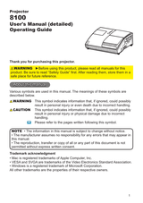 Epson 8100 User Manual Page 1 Of 80 Manualsbrain Com