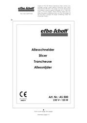 Efbe-Schott AS 500 AS 500 SI Data Sheet