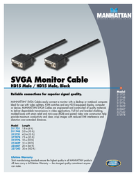 Manhattan SVGA Monitor Cable 337342 Leaflet