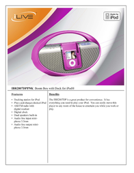 iLive IBR2807DPPNK Leaflet