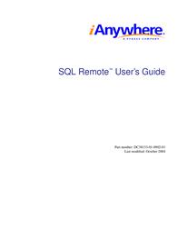 Sybase SQL Remote DC38133-01-0902-01 User Manual