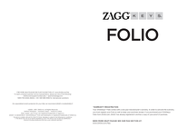 Zagg GZKFHFBKLIT105 User Manual
