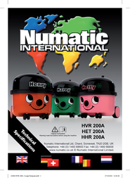 Numatic HVR200A HVR200ARO User Manual