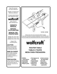 Wolfcraft Table 6155 用户手册