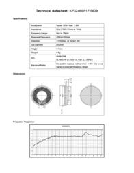 Kepo KP3246SP1F-5839 miniature speaker 8 Ω, 400 Hz ± 20 % KP3246SP1F-5839 Data Sheet