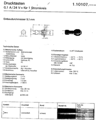 Rafi Pushbutton 24 V DC/AC 0.1 A 1 x Off/(On) 110107011.0205 momentary 1 pc(s) 110107011.0205 Data Sheet