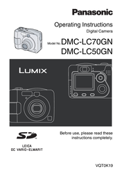 Panasonic Lumix DMC-LC50 DMC-LC50 User Manual
