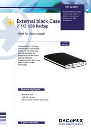 "Dacomex External Enclosure 2.5"" 924679 Leaflet"
