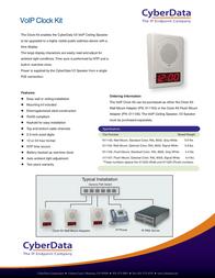 CyberData Systems 011106 Leaflet