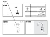 Miyama MS- 500-P-BC 6A Miniature Toggle Switch, , MS- 500-P-BC Data Sheet