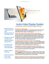 Minicom Advanced Systems 0VS22038A Leaflet