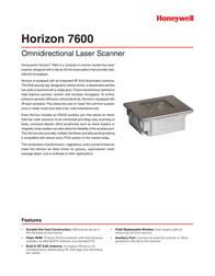 Metrologic MS7625 Horizon MK7625-71C07 Leaflet