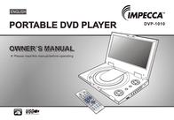 Impecca PORTABLE DVD PLAYER DVP-1010 User Manual