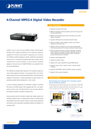 Planet DVR-460 User Manual