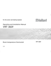 Vaillant VRT 360f Operating and Operating Guide