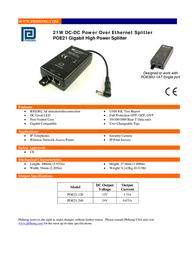 Phihong POE21-120 Leaflet