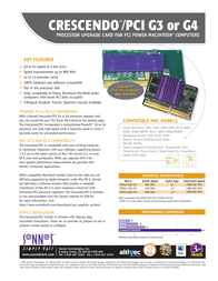 Sonnet Crescendo G3 PCI 500MHz 1MB 2.2V PPCG3-500-1M Leaflet