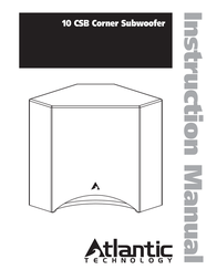 Atlantic Technology Technology 10 CSB User Manual