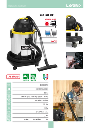 Lavorwash GB 50 XE 8.202.0071 Leaflet