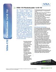 Exabyte VXA-172 Leaflet