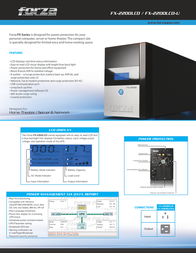 Forza Power Technologies FX-2200LCD Leaflet