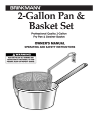 Brinkmann 2-GALLON PAN & BASKET SET 815-3610-0 User Manual