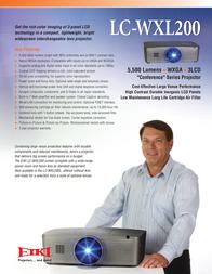 EIKI LC-WXL200 Leaflet